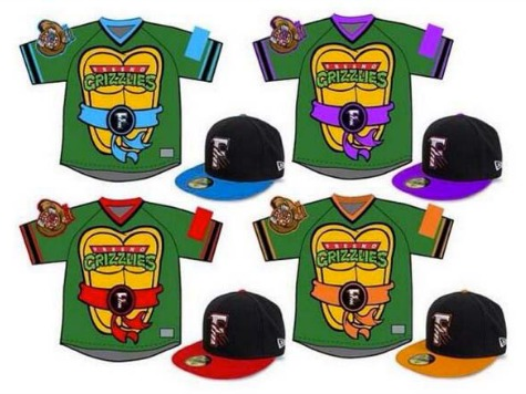 Minor League Team to Wear 'Teenage Mutant Ninja Turtles' Jerseys