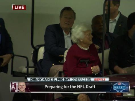 George H.W. Bush, Rick Perry Attend Johnny Manziel Pro-Day