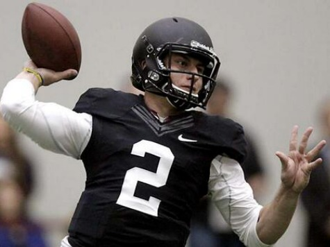 Donning Helmet & Pads, Johnny Football Shines, Defies Doubters at Pro-Day