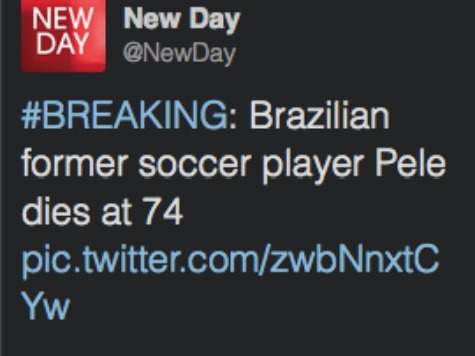 CNN Apologies for Erroneously Reporting Soccer Legend Pele Died