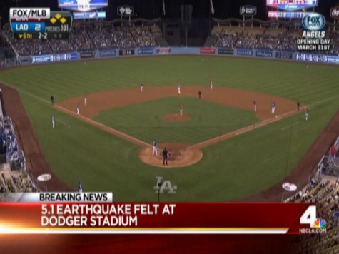 5.1 Earthquake Rocks Dodger Stadium During Freeway Series