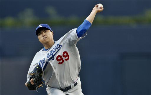 Dodgers Waste Ryu's Outing, Lose MLB Opener in North America to Padres