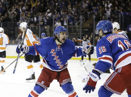 Rangers Top Flyers in Game 7, Advance to Face Pens