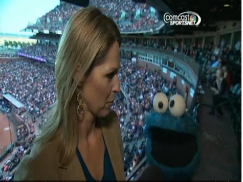 Cookie Monster Loves Baseball