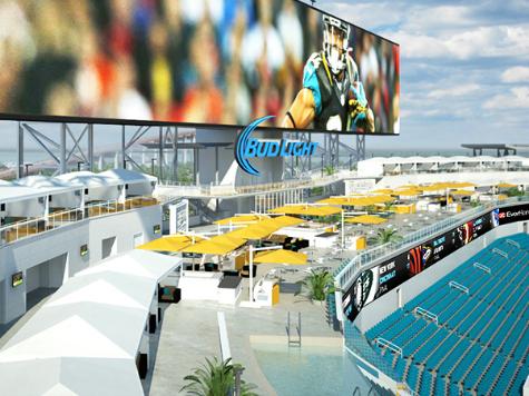 Jacksonville Jaguars Install Pool Cabanas in Stadium