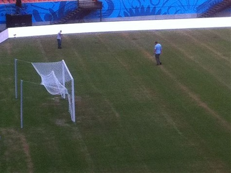 Manaus Amazonia Arena's Field in Poor Condition Three Days Before England vs. Italy