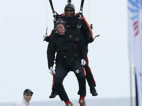 A Sporting Life: President George H.W. Bush Skydives on 90th Birthday