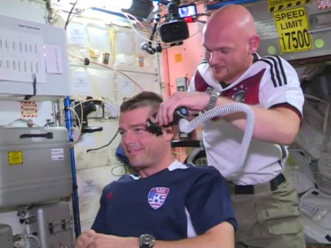 U.S. Astronauts Lose Bet and Their Hair Over World Cup Game