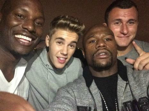 New Boy Band? Justin Bieber, Johnny Manziel, and Floyd Mayweather Partying Draws Cops