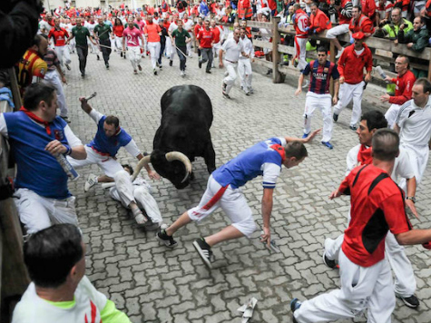 Bull Running How-To Author Gored in Pamplona