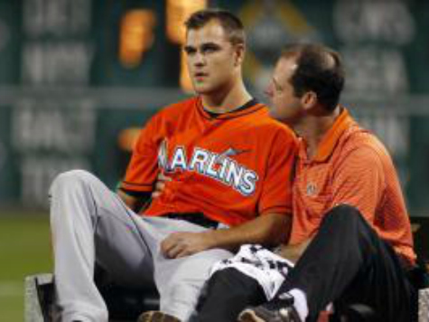 Marlins Reliever Dan Jennings Takes Scary Line Drive to Head