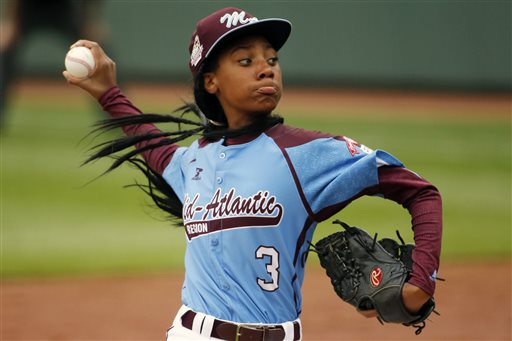 1st Female Little League Player Happy for 2 Girls in World Series