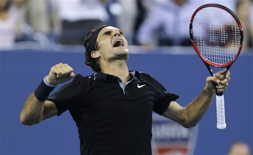 Federer Saves 2 Match Points, Defeats Monfils to Reach U.S. Open Semis