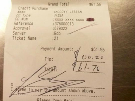 The Customer Is Always Right? LeSean McCoy Tips 20 Cents