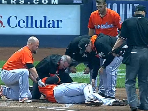 Giancarlo Stanton Beaned in the Face; Season Likely Over