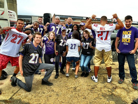 Baltimore Backlash: Ravens Fans Don Ray Rice Shirts for Primetime Game
