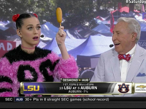 Katy Perry Plays a Corn-Dog Throwing Jimmy the Greek on 'College GameDay'