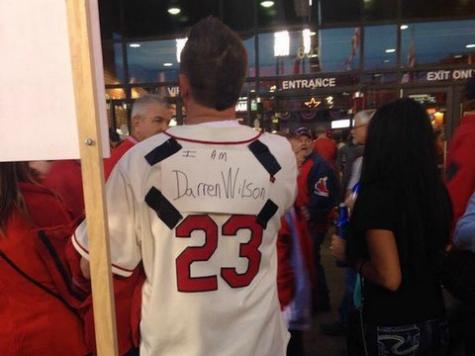 Bush League Protest Outside Busch Stadium Pits Fans vs. True Believers