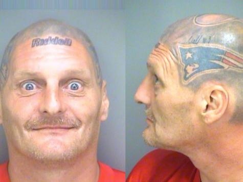 Spice Guy: Fan with Tom Brady Helmet Tattooed on Head Held in Florida Jail