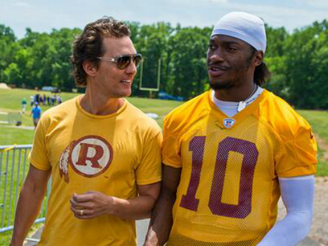 Matthew McConaughey Says Hail to the Redskins: 'I Love the Emblem'