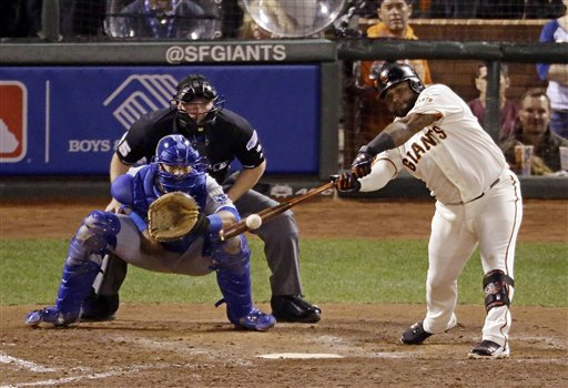 Giants Surge Past Royals 11-4 to Tie Series 2-All