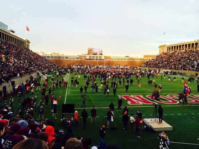 Nudity, Veganism, Lee Corso, and Pandemonium at Harvard Stadium