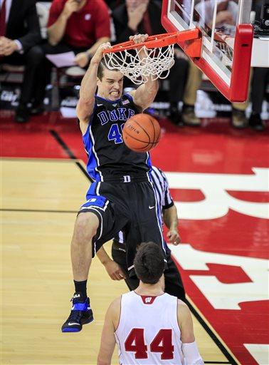 No. 4 Duke Beats No. 2 Wisconsin 80-70