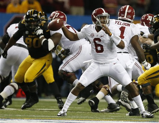 Alabama Routs Missouri for SEC Title