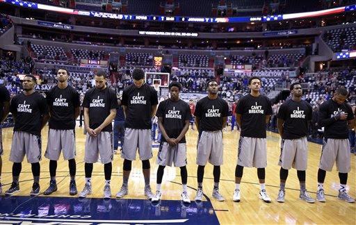 Georgetown Players Wear 'I Can't Breathe' T-Shirts