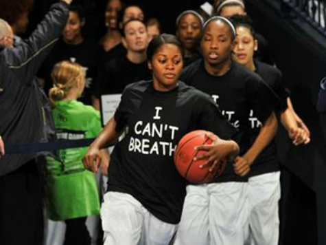 Notre Dame Women's Basketball Team Dons 'I Can't Breathe' Shirts