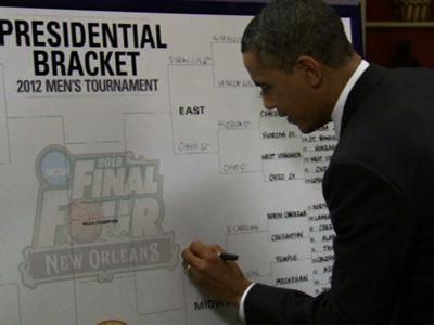President Picks 3 Final Four Teams From Battleground States