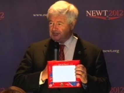 Gingrich Hits Romney On 'Etch-A-Sketch' Comments