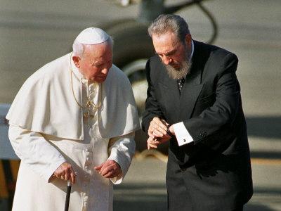 Pope Meets Fidel Castro After Havana Mass