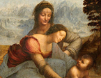 Da Vinci's Last Painting And Twin Mona Lisa Unveiled At Louvre Exhibit