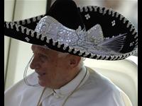 Pope Dons Sombrero In Mexico