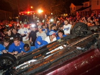 Kentucky Final Four Celebrations Turn Violent
