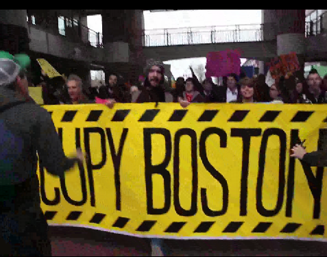 Occupy Boston Marches On April Fool's Day