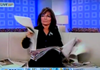 Palin 'Caught' Reading Newspapers Before Today Segment