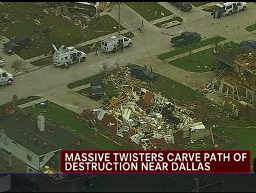 Dallas Tornadoes Aftermath