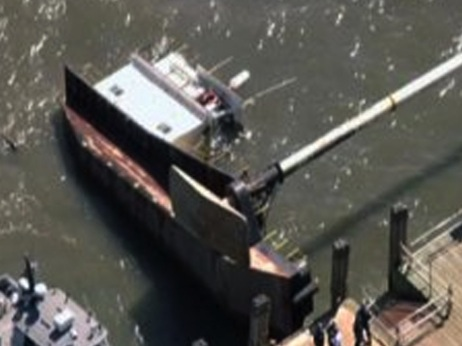Boat Overturns Near Liberty Island