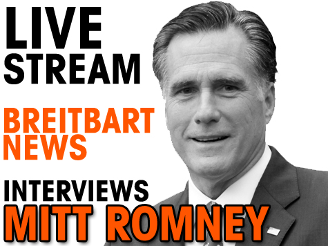 *Live Stream* WATCH Breitbart News' Exclusive Mitt Romney Interview At 2 p.m. ET