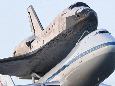 Space Shuttle Zooms Around DC Before Retirement