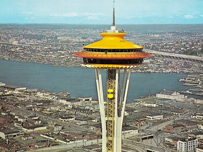 Space Needle Gets Anniversary Paint Job