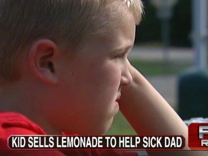 Six-Year-Old Raises $10,000 For Cancer-Stricken Dad