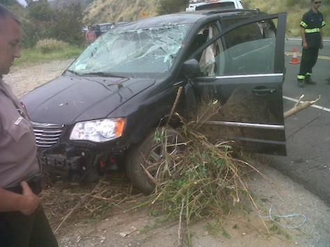 Cops: Man Drove Stolen Car Off Cliff, Wife Jumped Out