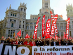 Spaniards Rally Against Budget Cuts