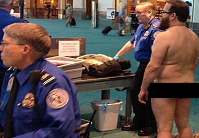 TSA Freak Out: Guy Goes Full Monty To Protest Pat Downs