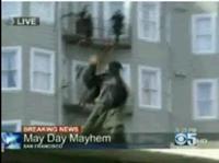#OccupySanFrancisco Protestor Throws Bricks Into Crowd