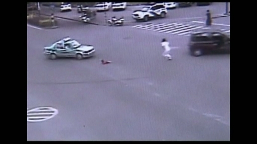 Chinese Father Leaps From Moving Car To Save Daughter