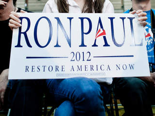 Ron Paul Supporters Boo Romney's Son Off Stage